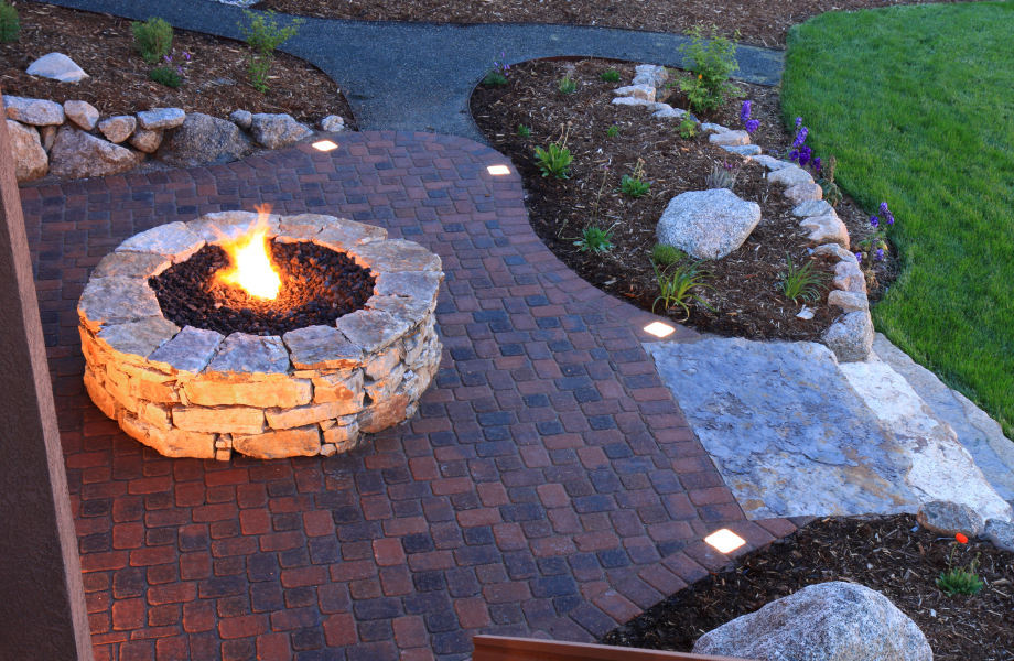 Fire Pit, Patio, Steps & Landscaping, Mountainside, NJ 2015