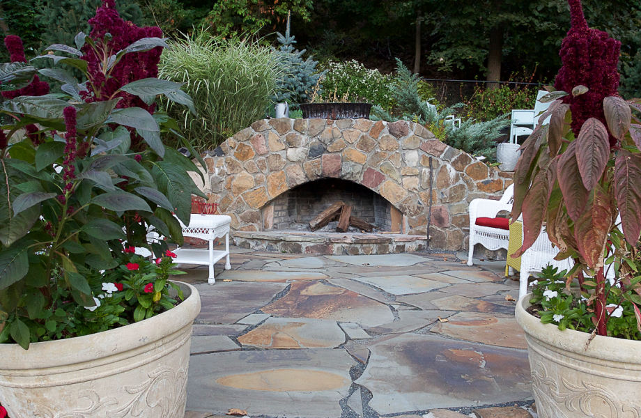 Outdoor Fireplace, Short Hills, NJ 2014