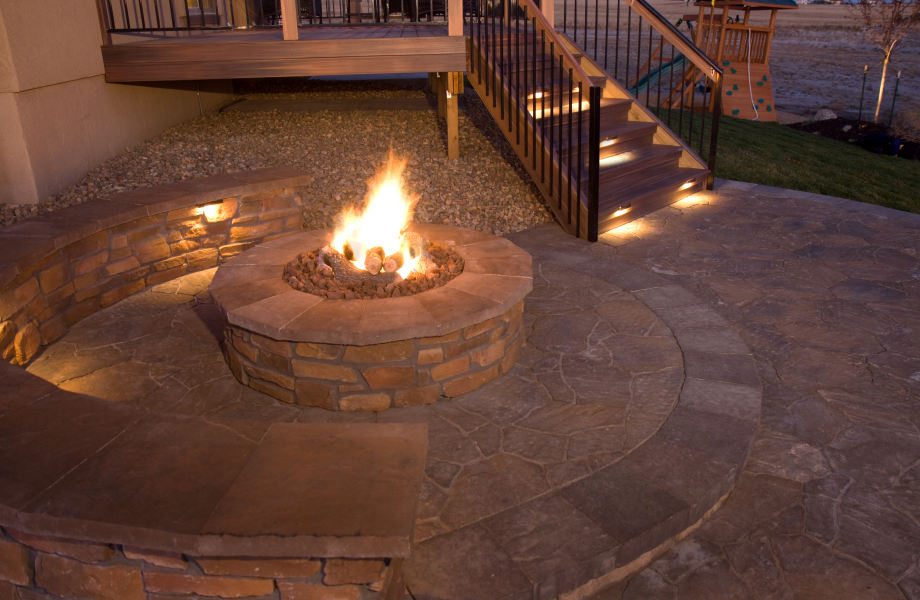 Firepit & Seating Walls, Short Hills, NJ 2015